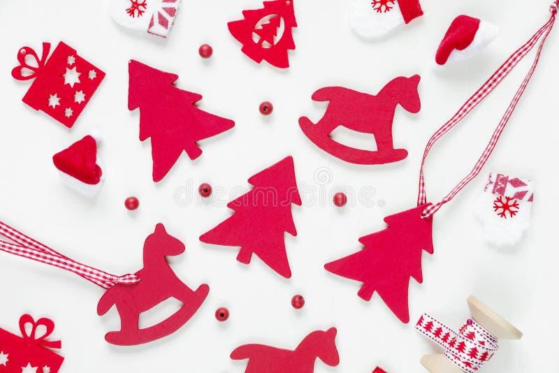 Composición plana de la Navidad de la endecha imagen de archivo