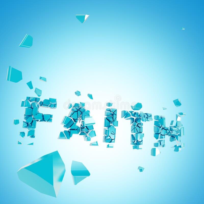 Composición quebrada del backround del extracto de la fe ilustración del vector