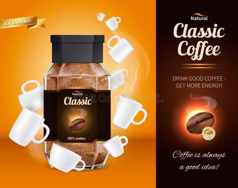 Composición realista del anuncio del café libre illustration
