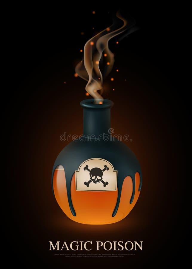 Composición realista del veneno stock de ilustración