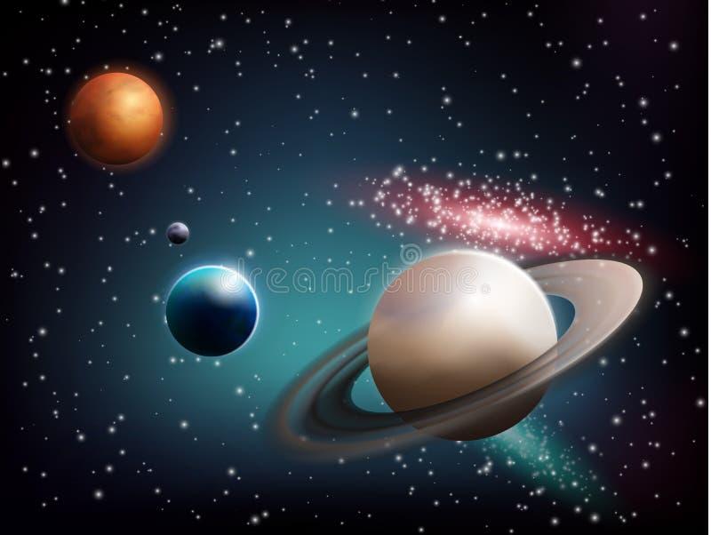 Composición realista determinada del planeta libre illustration