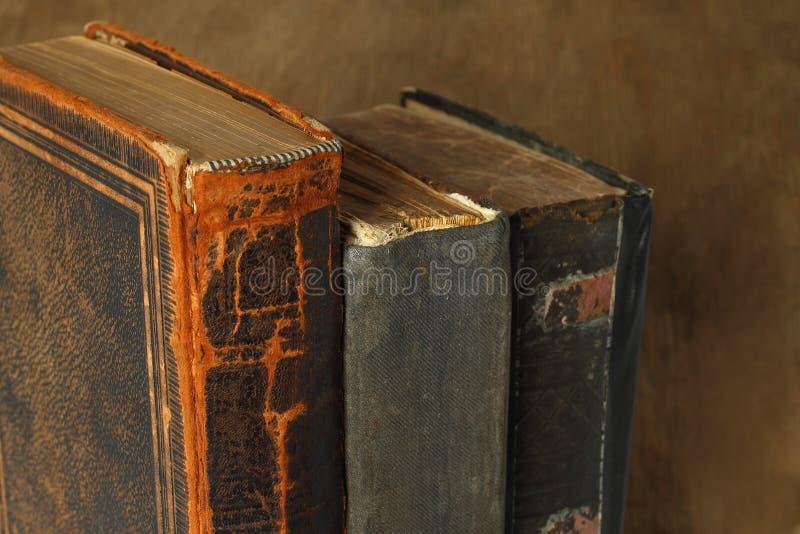 Composición retra con los libros foto de archivo libre de regalías