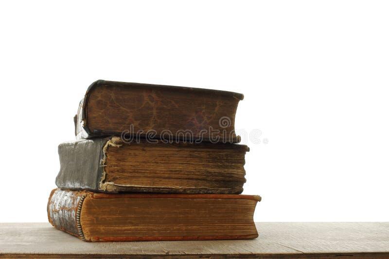 Composición retra con los libros fotos de archivo libres de regalías