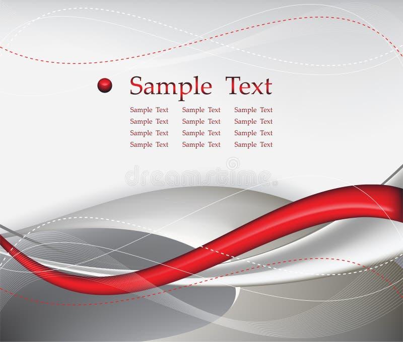Composición roja del fondo del extracto de la tecnología stock de ilustración