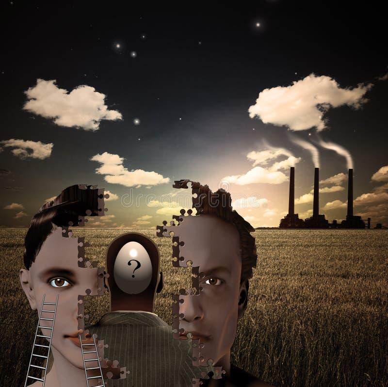 Composición surrealista ilustración del vector
