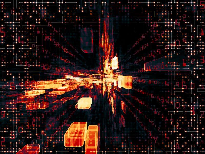 Composición virtual del espacio ilustración del vector