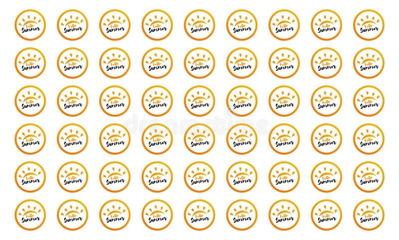Composici?n de las letras del cepillo Hola verano Ilustraci?n EPS10 del vector ilustración del vector