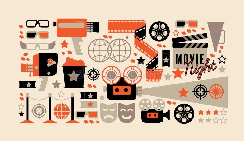 Composiciones del cine con el texto imágenes de archivo libres de regalías