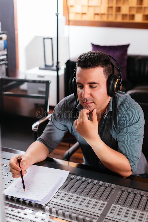 Composing music royalty free stock photography