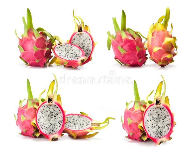 Composite of dragon fruit. Isolated on white background stock photography