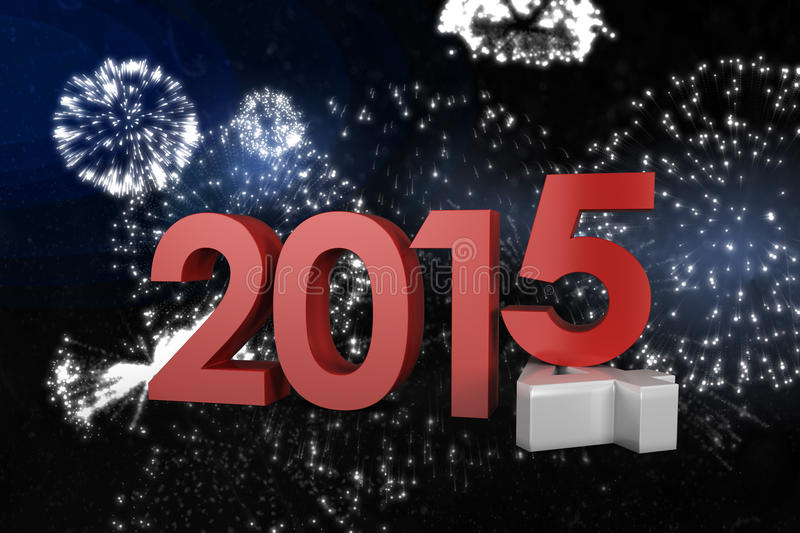 Composite image of 2014 and 2015 stock illustration