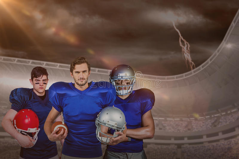 Composite image of american football team stock photography