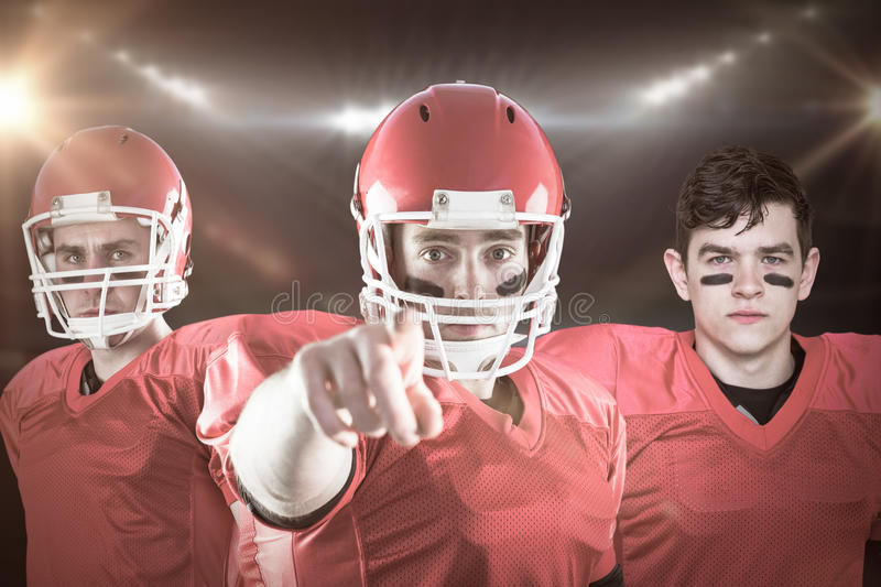 Composite image of american football team 3D royalty free stock photo