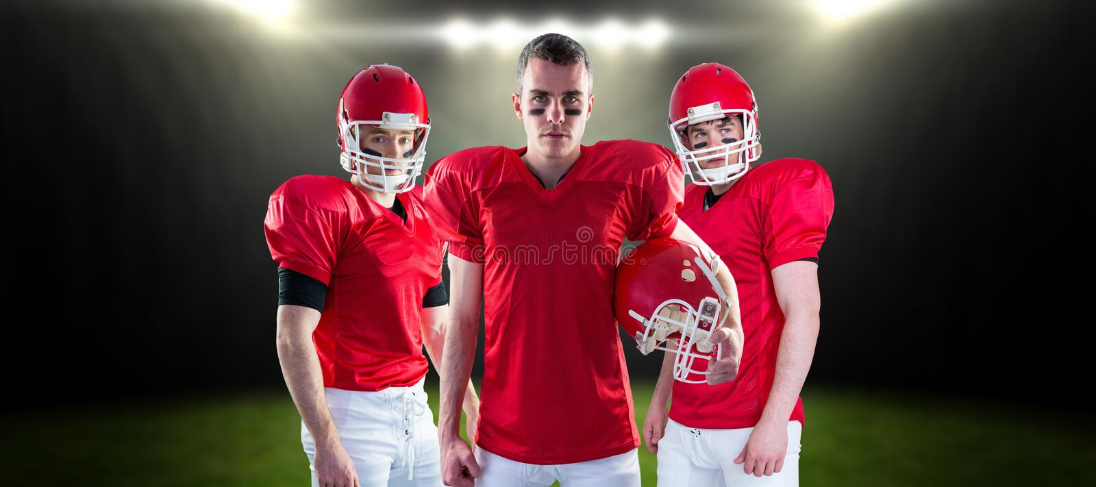 Composite image of american football team royalty free stock photo