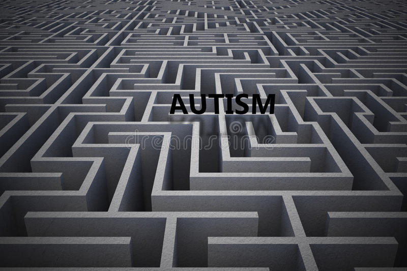 Composite image of autism vector illustration