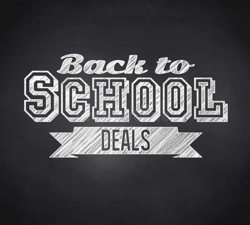 Composite image of back to school deals message stock illustration
