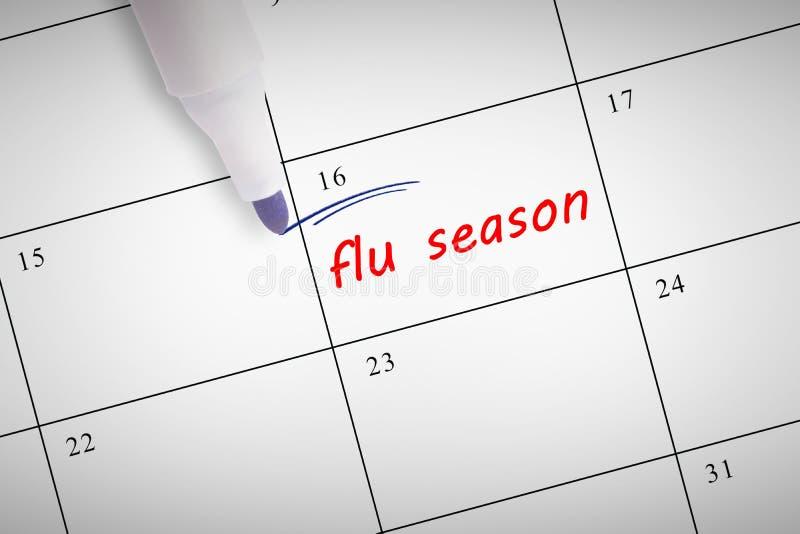 Composite image of blue marker. Blue marker against flu season vector illustration