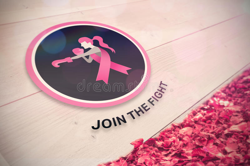 Composite image of breast cancer awareness message royalty free illustration