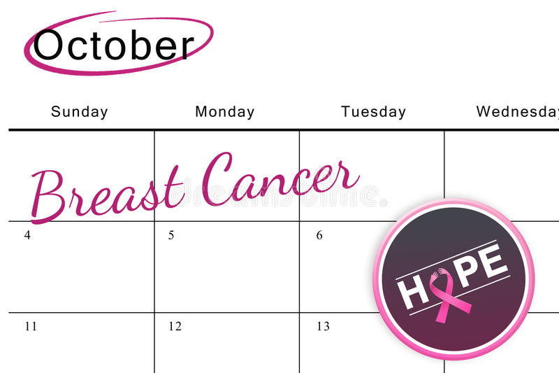 Composite image of breast cancer awareness message on poster stock illustration