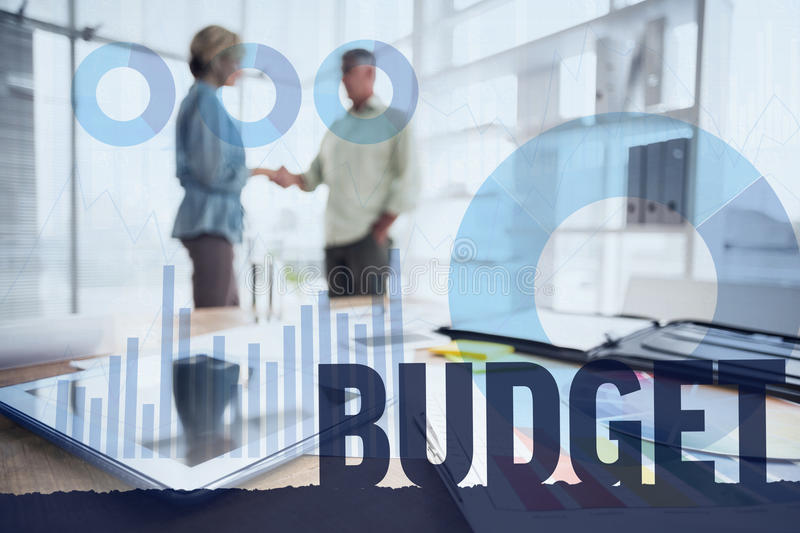 Composite image of budget royalty free stock image