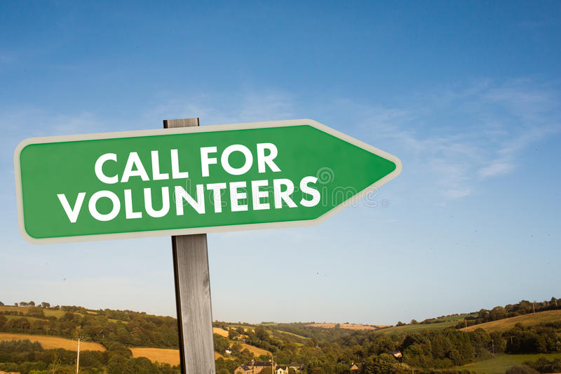 Composite image of call for volunteers royalty free illustration