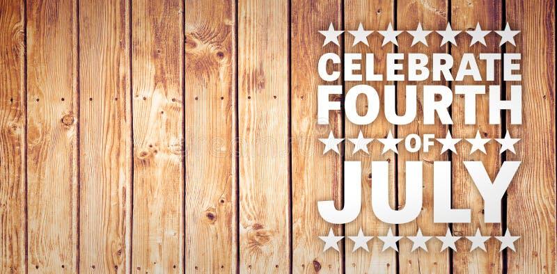 Composite image of celebrate fourth of july stock illustration