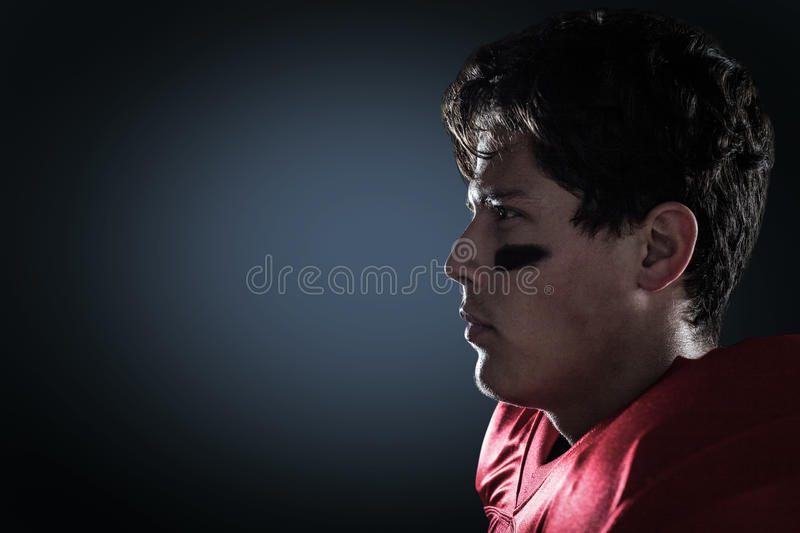 Composite image of close-up of determined sportsman stock photo