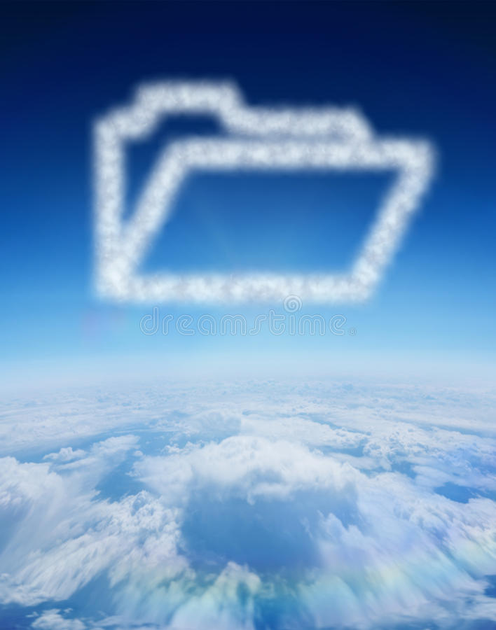 Composite image of cloud in shape of open file royalty free illustration