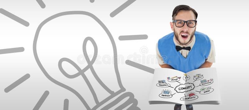 Composite image of concept flowchart. Concept flowchart against grey background stock photos
