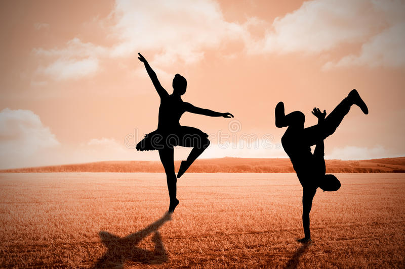 Composite image of cool break dancer royalty free stock image