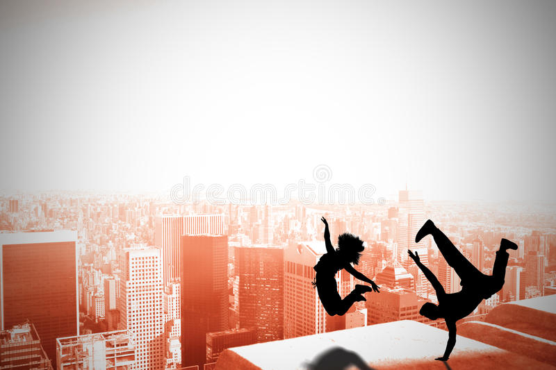Composite image of cool break dancer royalty free stock images