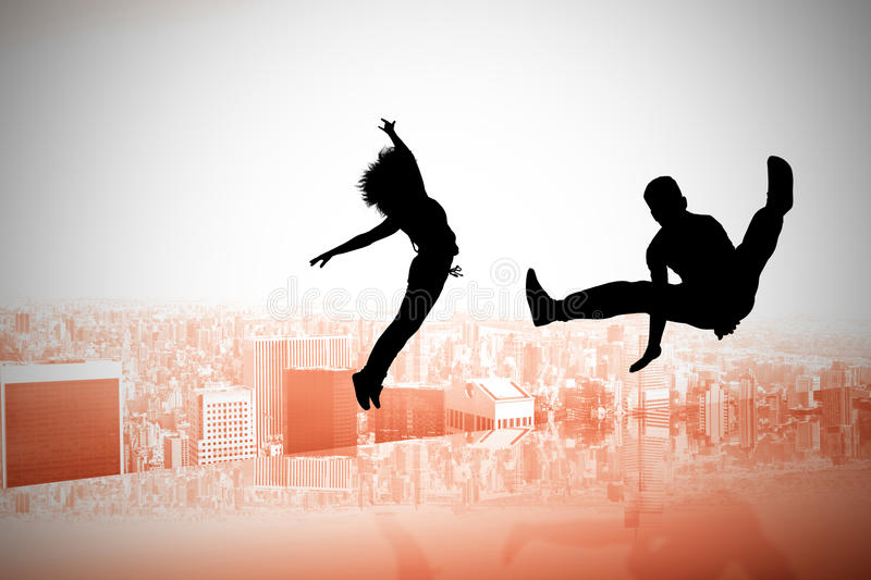 Composite image of cool break dancer royalty free illustration
