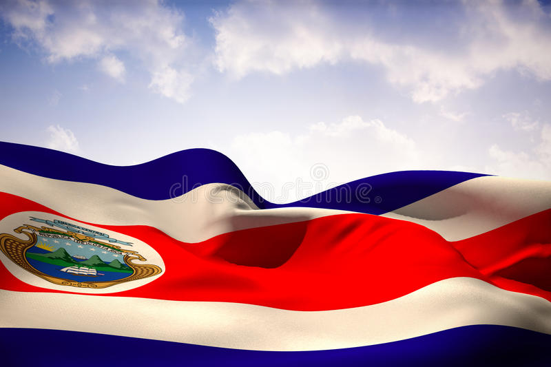 Composite image of costa rica flag waving vector illustration