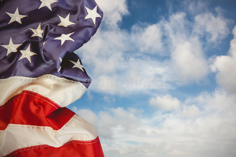 Composite image of creased us flag royalty free stock photo