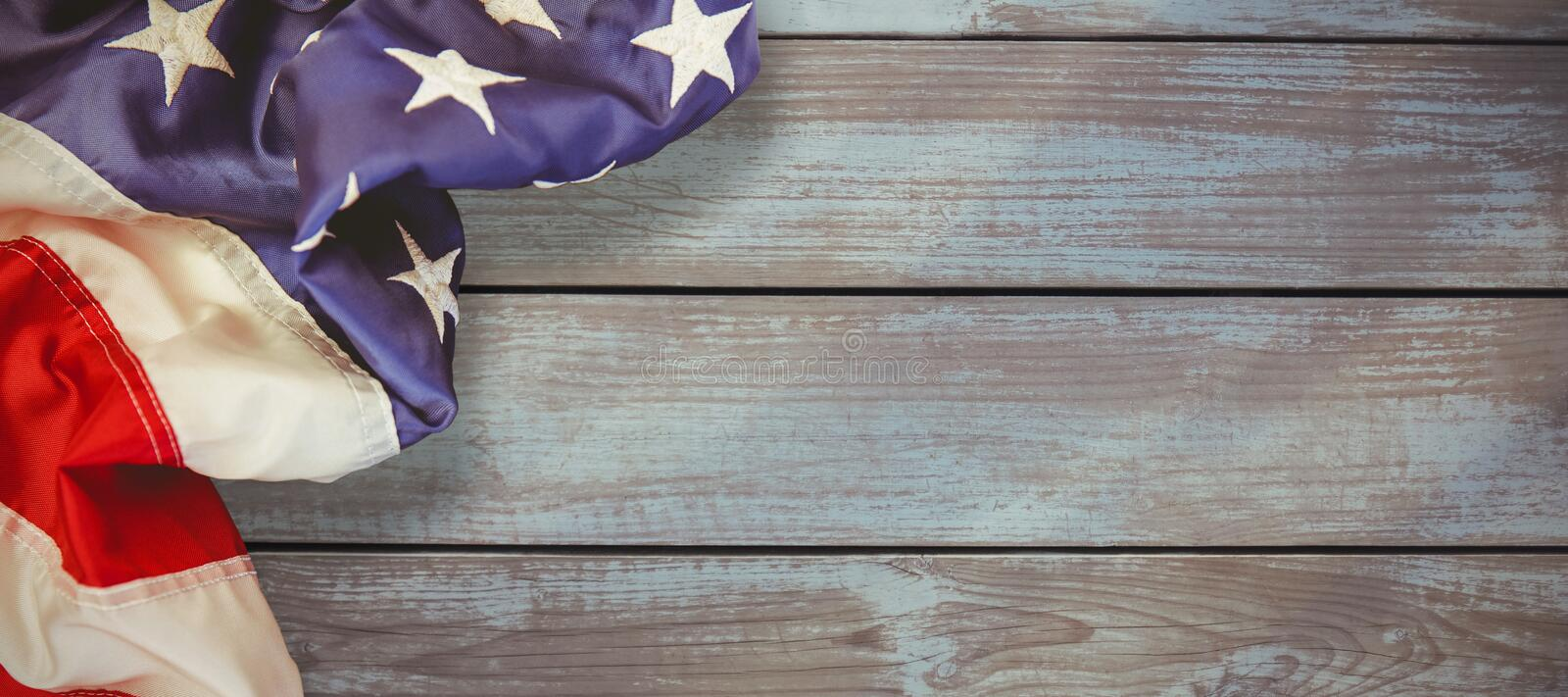 Composite image of creased us flag stock illustration