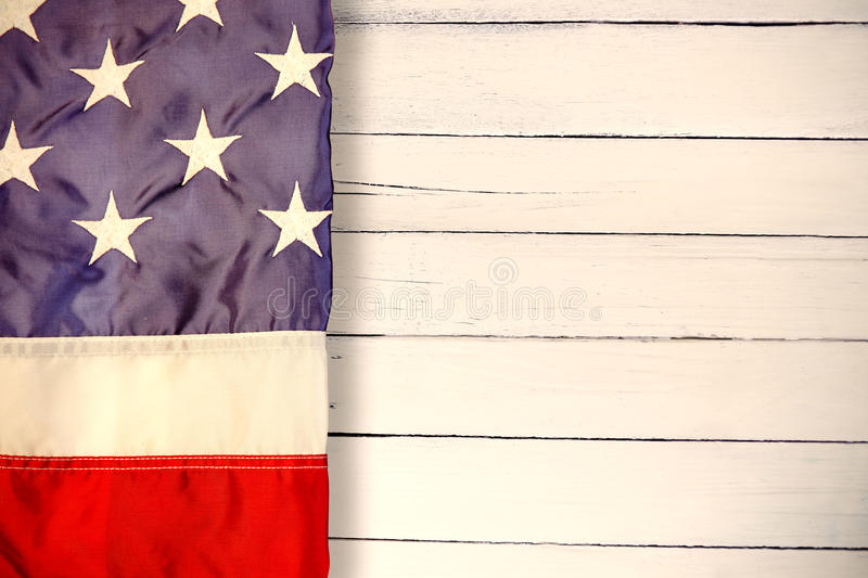 Composite image of creased us flag vector illustration