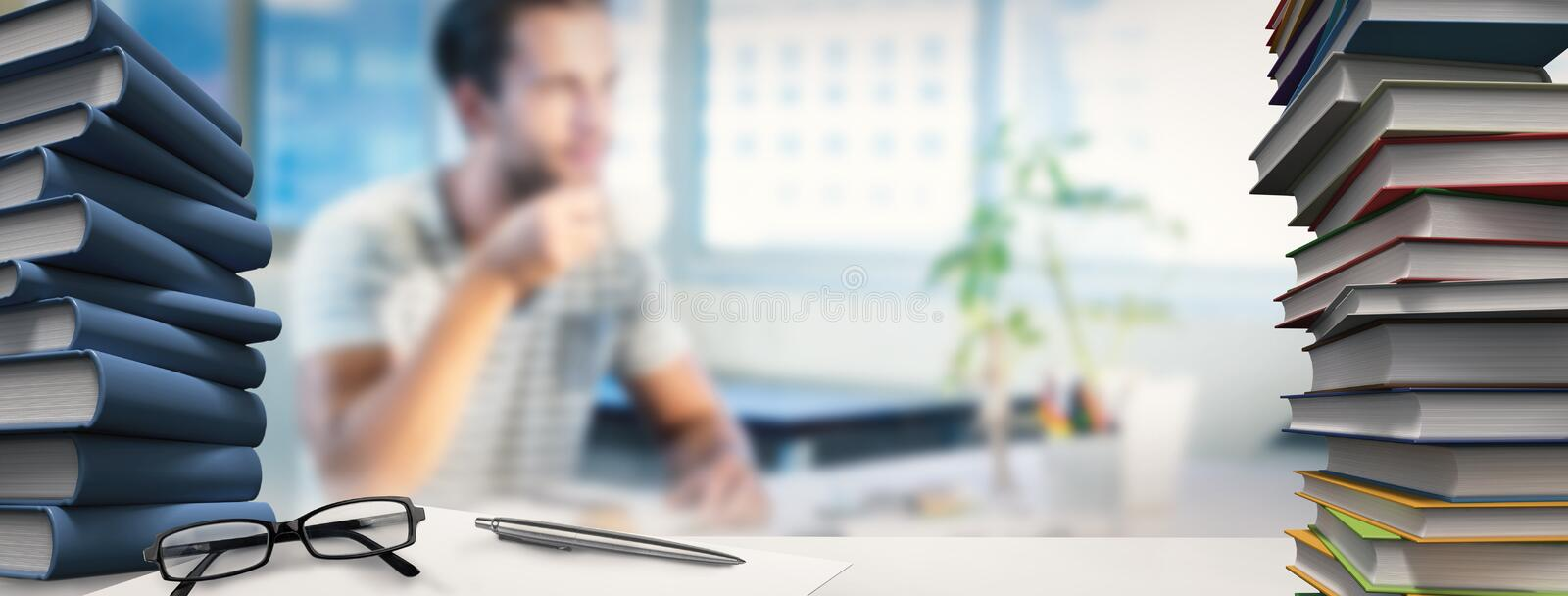 Composite image of desk stock images
