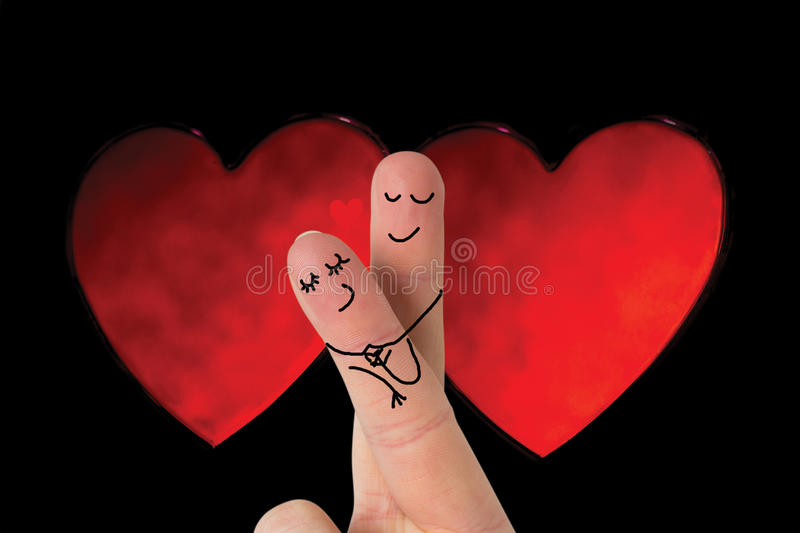 Composite image of fingers crossed like couple vector illustration