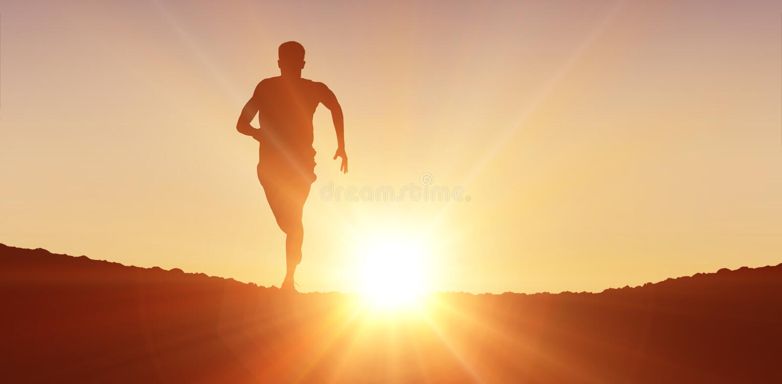 Composite image of fit man running against white background royalty free stock image