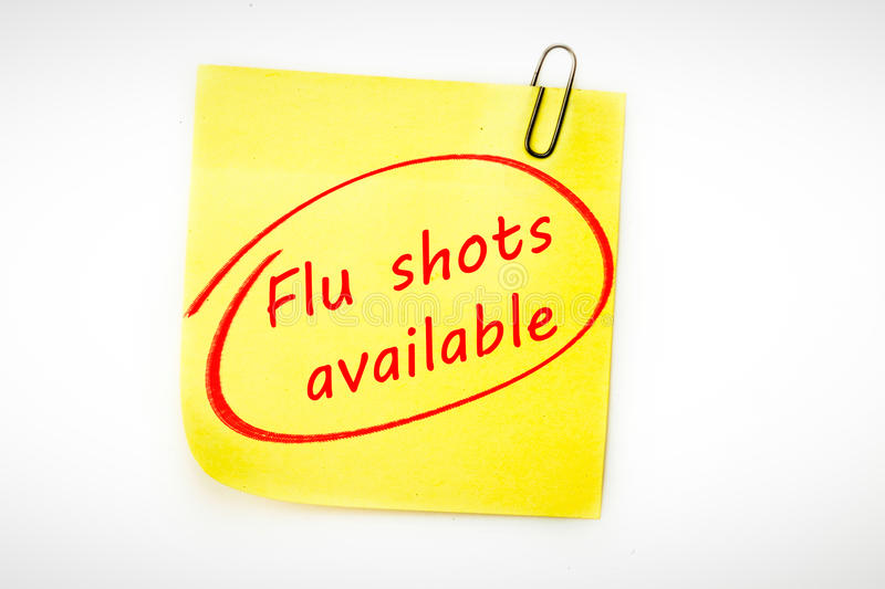 Composite image of flu shots available stock illustration