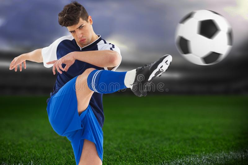 Composite image of football player stock photo