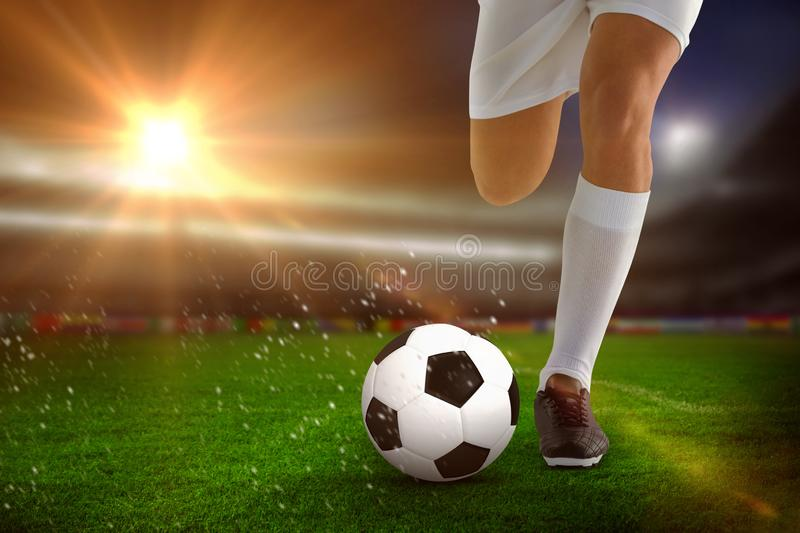 Composite image of football player stock image