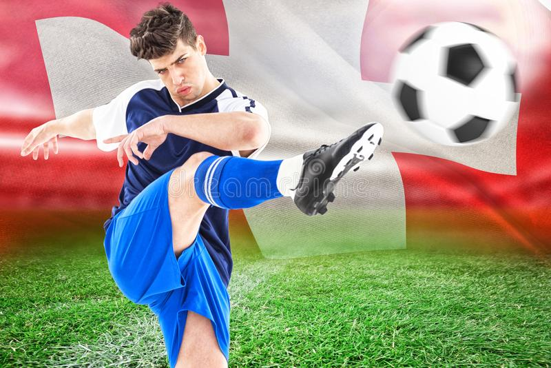 Composite image of football player royalty free stock image