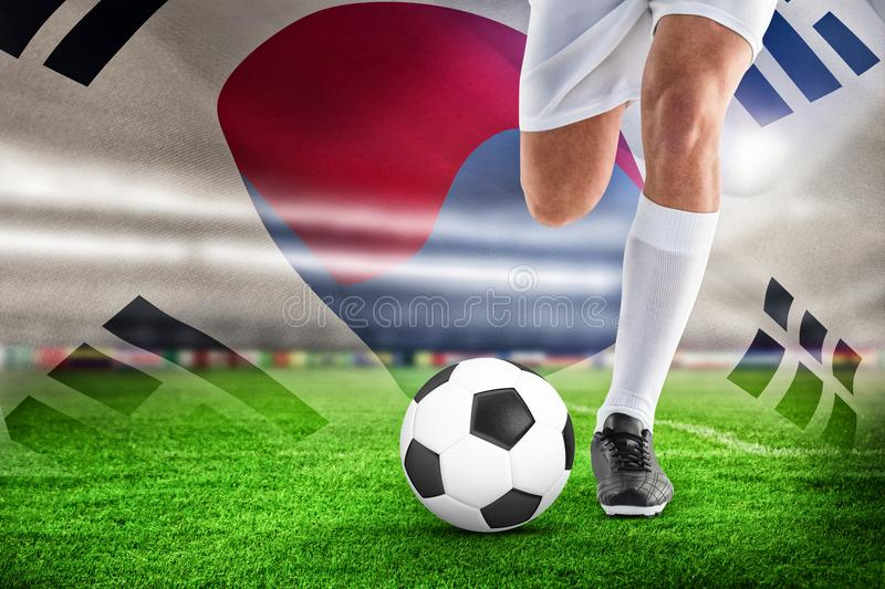 Composite image of football player royalty free stock photography