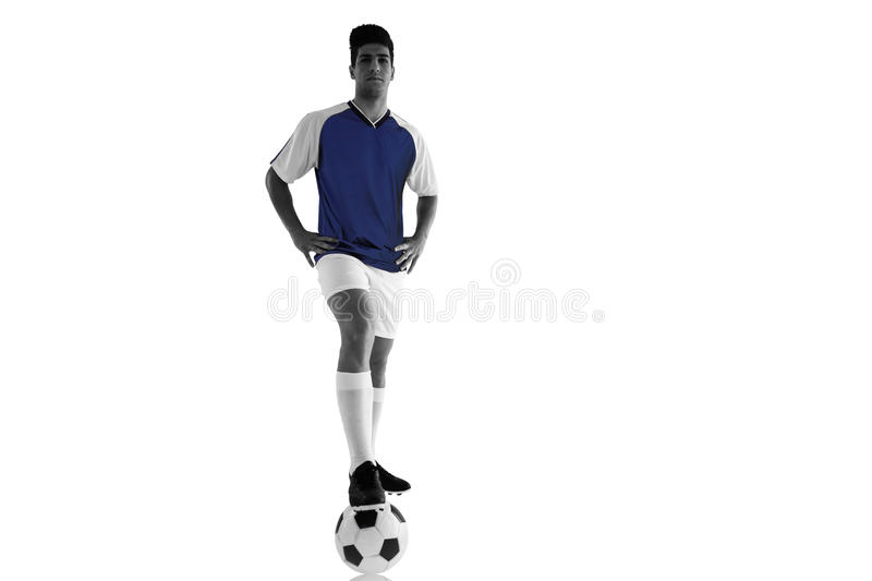 Composite image of handsome football player stock photos
