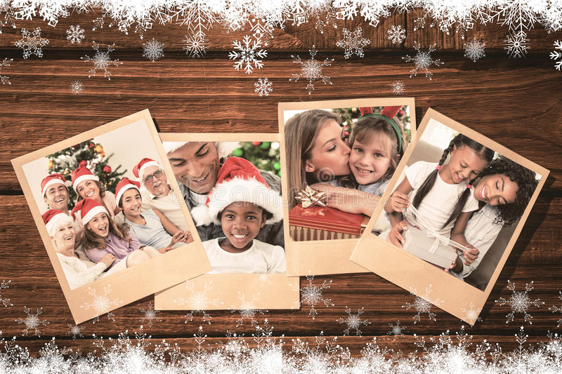 Composite image of happy family at christmas royalty free stock image