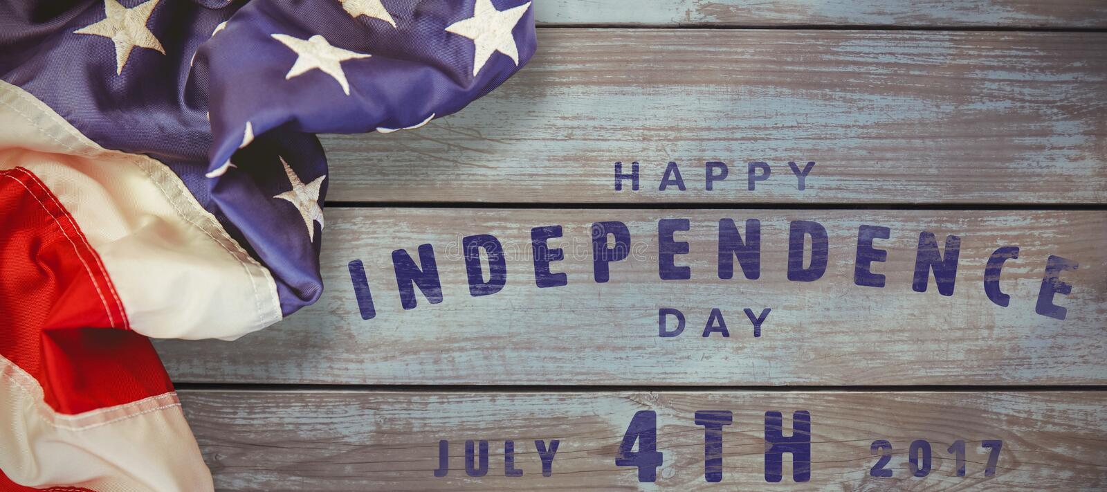 Composite image of happy 4th of july text on white background stock illustration
