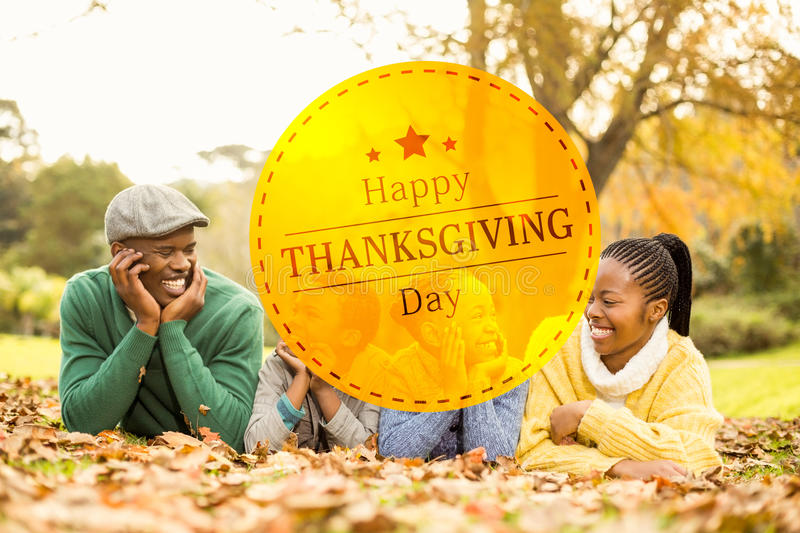 Composite image of happy thanksgiving royalty free stock image