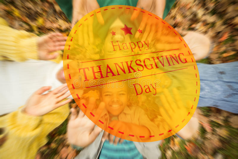 Composite image of happy thanksgiving stock images