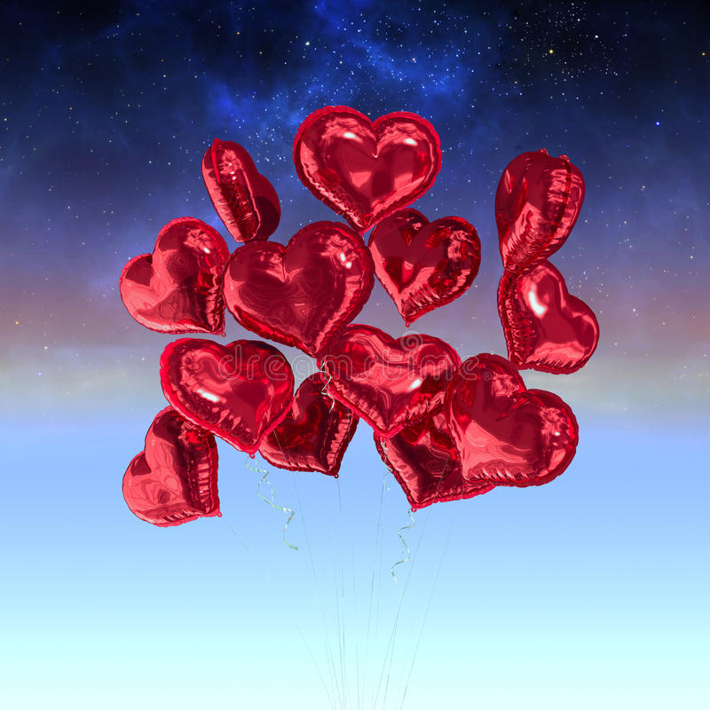 Download Composite Image Of Heart Balloons Stock Illustration - Illustration of magical, digital: 49868013